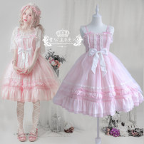 Dress Summer 2021 S,M,L Short skirt singleton  Sleeveless Sweet Type A bow Lolita