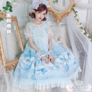 Dress Summer 2020 Turquoise jsk (excluding interior), blue purple jsk (excluding interior), hairband headdress (18 yuan) Average size Middle-skirt singleton  Sleeveless Sweet Animal design Type A Bows, ruffles, lace Lolita