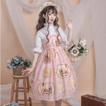 Dress Summer 2020 S,M,L Middle-skirt singleton  Sleeveless Sweet Cartoon animation camisole Type A bow Lolita