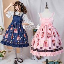Dress Summer 2020 S,M,L Middle-skirt singleton  Sleeveless Cartoon animation zipper camisole Type A