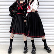 Other suits Spring 2021 Black sailor suit (with bow tie), white sailor suit (with bow tie), 70cm skirt, black sailor suit + 70cm skirt, white sailor suit + 70cm skirt S,M,L