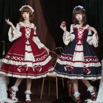 Dress Autumn 2021 S,M,L singleton  Long sleeves Sweet Solid color zipper Type A Lolita
