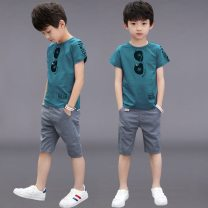 suit Other / other male summer leisure time Short sleeve + pants 2 pieces Thin money There are models in the real shooting Socket nothing cotton Three, four, five, six, seven, eight, nine, ten, eleven, twelve, thirteen Chinese Mainland