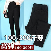 Casual pants Black without velvet, black with velvet 5XL,6XL,7XL,8XL,9XL street