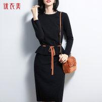 Fashion suit Winter of 2019 S M L XL 2L Black blue You Yi Mei TD9T30302T Viscose (viscose) 48% polyester 31% polyamide (nylon) 21%