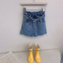 trousers Other / other female 110cm,120cm,130cm,140cm,150cm,160cm blue summer shorts Korean version Jeans Leather belt High waist Denim Don't open the crotch Other 100% 7, 8, 3, 6, 11, 5, 10, 4, 9, 12 Chinese Mainland