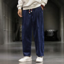 Casual pants Others Youth fashion Navy, black, gray, earth gray, qt4011-617 black, qt4011-617 gray, qt4011-617 army green M,L,XL,2XL,3XL,4XL,5XL routine trousers Other leisure easy No bullet autumn youth Chinese style 2020 middle-waisted Straight cylinder Haren pants No iron treatment