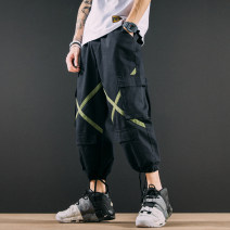 Casual pants Others Youth fashion Army green, Khaki S,M,L,XL,2XL routine Capris Other leisure easy No bullet B071 Four seasons teenagers tide middle-waisted Little feet Overalls Pocket decoration washing Fine canvas cotton