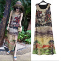 Dress Summer 2021 Decor M L XL 2XL 3XL 4XL Mid length dress singleton  Sleeveless commute Crew neck Loose waist scenery Socket other routine straps 25-29 years old Goken Retro printing xjm130 More than 95% other Other 100%
