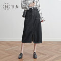skirt Summer of 2019 XS S M L XL 2XL black longuette commute High waist Pencil skirt Solid color yx2947 91% (inclusive) - 95% (inclusive) Yixi cotton Korean version Cotton 92% polyester 8% Pure e-commerce (online only)