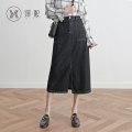 skirt Summer of 2019 XS S M L XL 2XL black longuette commute High waist Pencil skirt Solid color yx2947 91% (inclusive) - 95% (inclusive) Yixi cotton Korean version Cotton 92% polyester 8% Pure e-commerce (online only)