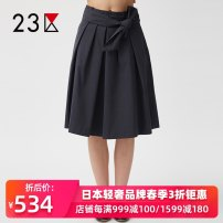 skirt Autumn of 2018 36 38 40 White Khaki Navy Middle-skirt commute Natural waist other Solid color Type A 25-29 years old SKVAHM6380 51% (inclusive) - 70% (inclusive) Zone 23 cotton Bowknot pleated bandage Ol style Cotton 69% polyester 31% Same model in shopping mall (sold online and offline)
