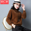 sweater Winter 2017 MLXLXXL Caramel color card its purple and black white Long sleeve Short paragraph Sleeve Thicken Single Boss conventional Straight Commuting YRX1199N Pure color Conventional wool Warm and heat Yi Yan Pavilion 100% other Coloring of spliced thread flocking resin