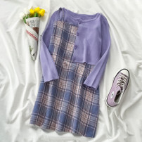 Fashion suit Autumn 2020 S m average Purple top blue purple skirt 18-25 years old VV combination 825-K82703 96% and above Viscose Viscose (viscose) 100% Pure e-commerce (online only)
