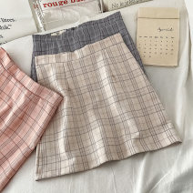 skirt Summer 2021 S M L XL Pink apricot grey Short skirt commute High waist A-line skirt lattice Type A 18-24 years old K040201 More than 95% other VV combination other zipper Korean version Other 100% Pure e-commerce (online only)