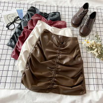 skirt Spring 2021 S M L XL White black red Khaki Short skirt commute High waist A-line skirt Solid color Type A 18-24 years old 1.13N-1 More than 95% other VV combination other zipper Korean version Other 100% Pure e-commerce (online only)