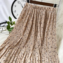 skirt Winter 2020 Average size Coffee apricot Navy longuette commute High waist Pleated skirt Solid color Type A 18-24 years old 1117-1118H-01 More than 95% Chiffon VV combination polyester fiber Pleated fold Korean version Polyethylene terephthalate (polyester) 100% Pure e-commerce (online only)