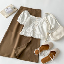 Fashion suit Summer 2021 S M L XL Top and skirt 18-25 years old VV combination 4.5N-12 96% and above Other 100% Pure e-commerce (online only)