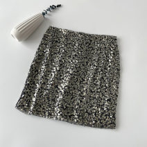 skirt Summer 2021 S M L XL White, black, apricot Short skirt commute High waist A-line skirt Solid color Type A 18-24 years old 4.2N-8 More than 95% other VV combination other Bright silk Sequin mesh zipper lace Korean version Other 100% Pure e-commerce (online only)