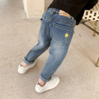 trousers Other / other male 80cm,90cm,100cm,110cm,120cm,130cm Blue, gray spring and autumn trousers Korean version There are models in the real shooting Jeans Leather belt middle-waisted Cotton elastic denim Open crotch Other 100% Class B Chinese Mainland Zhejiang Province Huzhou City
