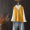 Vest Autumn of 2019 Yellow Black Red Blue Coffee Average size routine V-neck commute Solid color WZ9 other 25-29 years old Qiuessii / autumn 96% and above other Other 100% Pure e-commerce (online only)