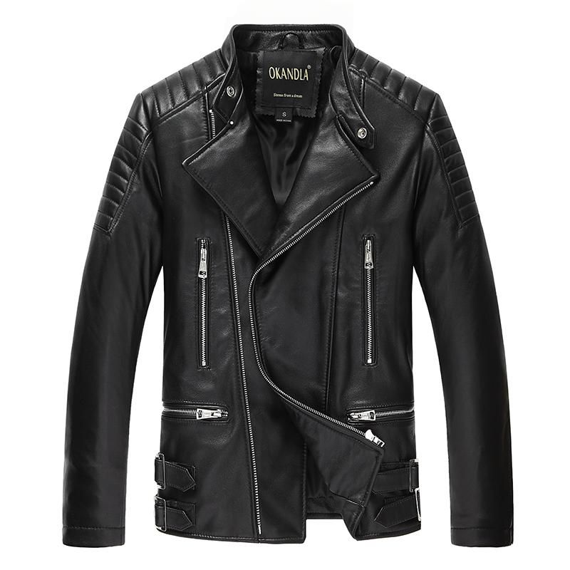 leather clothing OKANDLA Youth fashion Sheepskin L Sheepskin 19-823 Winter of 2018 Pure e-commerce (online only)