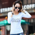 T-shirt White black dark grey brick red S M L XL XXL Spring 2017 Long sleeves Crew neck Self cultivation Regular routine commute cotton 86% (inclusive) -95% (inclusive) 25-29 years old Korean version classic letter Yager rain Y166 Cotton 95% polyurethane elastic fiber (spandex) 5%