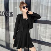 Fashion suit Autumn 2020 S,M,L,XL black 18-25 years old 31% (inclusive) - 50% (inclusive) polyester fiber