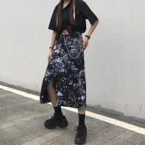 skirt Autumn 2020 M,L,XL Picture color Mid length dress Versatile High waist Irregular Hand painted Type A 18-24 years old 91% (inclusive) - 95% (inclusive) cotton Pocket, asymmetric, tie dye 401g / m ^ 2 (inclusive) - 500g / m ^ 2 (inclusive)