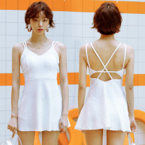 one piece  W M,L,XL white Skirt one piece With chest pad without steel support other female
