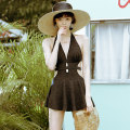 one piece  W M,L,XL black Skirt one piece With chest pad without steel support other female