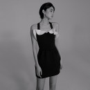 one piece  W M,L,XL black With chest pad without steel support female Sleeveless Casual swimsuit