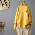 Wool knitwear Winter of 2019 Average size Yellow, red, off white, black, turquoise, pink Long sleeves singleton  Socket other 71% (inclusive) - 80% (inclusive) Regular thick commute easy Half height crew neck routine letter Socket literature Other / other Embroidery