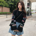 T-shirt White black M L XL Spring 2020 Long sleeves Crew neck easy Regular routine commute polyester fiber 86% (inclusive) -95% (inclusive) 18-24 years old Retro youth Geometric pattern Coshehkg / Qiao line printing Polyester 95% polyurethane elastic fiber (spandex) 5% Pure e-commerce (online only)