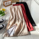 skirt Spring 2021 S M L XL Pink apricot black Mid length dress commute High waist Irregular Solid color Type A 18-24 years old ZHEN-12.29-11 More than 95% corduroy Coshehkg / Qiao line other Threaded zipper Korean version Other 100% Exclusive payment of tmall