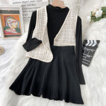 Fashion suit Autumn 2020 S M L XL average size White vest, black skirt, black undergarment 18-25 years old Coshehkg / Qiao line ZHEN-1003-09 81% (inclusive) - 90% (inclusive) Other 100% Pure e-commerce (online only)