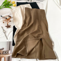 skirt Winter 2020 S M L XL Brown apricot black Mid length dress commute High waist A-line skirt Solid color Type A 18-24 years old More than 95% other Coshehkg / Qiao line polyester fiber zipper Korean version Polyethylene terephthalate (polyester) 100% Pure e-commerce (online only)