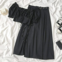 Fashion suit Autumn 2020 Average size S M Black top black skirt 18-25 years old Coshehkg / Qiao line shuai-B252Q,B275Q-200723 Other 100% Pure e-commerce (online only)