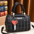Bag Inclined shoulder bag PU Boston Bag Tianyan brand new Fashion trend in leisure time soft zipper no stripe Single root One shoulder portable messenger nothing youth Pillow shape Soft handle polyester fiber inside pocket with a zipper soft surface Bag with cover