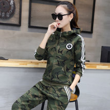 Casual suit Winter 2017 Winter Camouflage Army Green Spring Camouflage Army Green Spring camouflage red 18-25 years old eight thousand six hundred and five Sweet words of clothing 51% (inclusive) - 70% (inclusive) cotton Cotton 65% polyester 35% Pure e-commerce (online only)