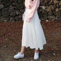 skirt Summer 2021 Average size White, black Mid length dress Versatile High waist Ruffle Skirt Solid color Type A 18-24 years old 91% (inclusive) - 95% (inclusive) Chiffon polyester fiber 401g / m ^ 2 (inclusive) - 500g / m ^ 2 (inclusive)