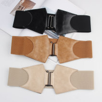 Belt / belt / chain Pu (artificial leather) Black, red, camel, coffee, khaki female leisure time Single loop youth alone