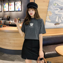 T-shirt S M L XL XXL Summer 2020 Short sleeve Crew neck easy Regular routine commute cotton 96% and above 18-24 years old Korean version youth Acting moment Cotton 100% Exclusive payment of tmall