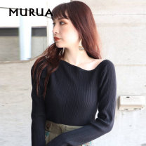 Wool knitwear Autumn 2020 F Black ivory Mocha Long sleeves singleton  Socket Viscose 31% (inclusive) - 50% (inclusive) Regular routine commute Self cultivation other routine Solid color Socket Simplicity 18-24 years old MURUA