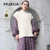 Wool knitwear Winter 2020 F Ivory Khaki Sleeveless singleton  Socket acrylic fibres 91% (including) - 95% (excluding) Regular commute easy Simplicity MURUA Pan 93% wool 7%