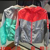 Sports windbreaker female A463042 Guirenniao S. M (adult), l, XL, 2XL, 3XL, 4XL Autumn 2015 Detachable cap zipper Brand logo nylon Sports life Waterproof, breathable, wear resistant