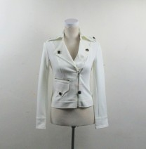 short coat Spring 2020 8,10,12 white Long sleeves have cash less than that is registered in the accounts Thin money singleton  Self cultivation Versatile routine Polo collar zipper Solid color 25-29 years old Other / other 81% (inclusive) - 90% (inclusive) other