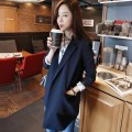 suit Autumn 2016 Black White Navy S M L XL Long sleeves Medium length easy tailored collar No buckle routine Solid color xz16-2 51% (inclusive) - 70% (inclusive) polyester fiber Mengxiu Yizi pocket Polyester 70% viscose 30% Pure e-commerce (online only)