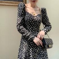 Cufflinks Black floral skirt s Black Floral Skirt M Black Floral Skirt l Black Floral Skirt XL other Yuanti f64sdf Autumn 2020