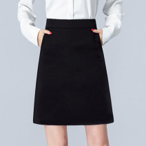 skirt Summer of 2018 XS S M L XL 2XL 3XL Middle-skirt commute High waist A-line skirt Solid color Type A 25-29 years old More than 95% Jian Zhi polyester fiber Ol style Polyester 100% Pure e-commerce (online only)